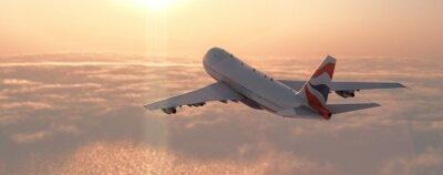 Наклейка Коммерческий самолет