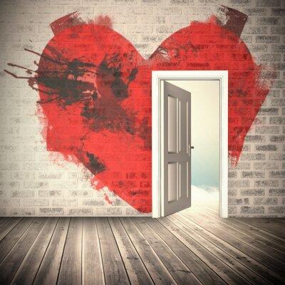 Наклейка Композитный изображение сердца