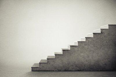 Наклейка бетонные лестницы