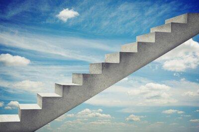 Наклейка бетонные лестницы на фоне голубого неба