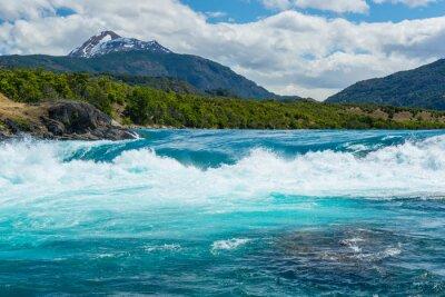 Наклейка Confluence реки Бейкер и реки Neff, Чили