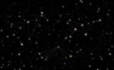 Наклейка Созвездия Phoenix, Тукана и Grus