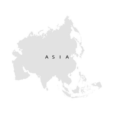 Наклейка Континент Азия