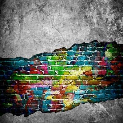 Наклейка трещины кирпичной стены