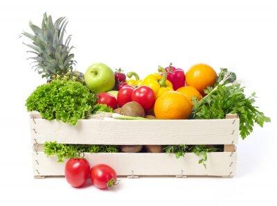 Наклейка Ящик с фруктов и овощей