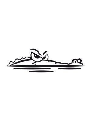 Наклейка Lauren вода Крокодил