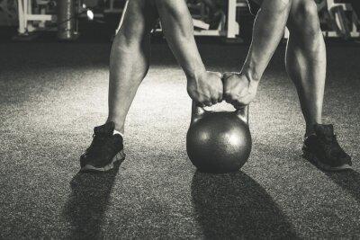 Наклейка CrossFit обучение гири