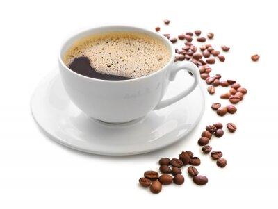 Наклейка Чашка кофе, изолированных на белом