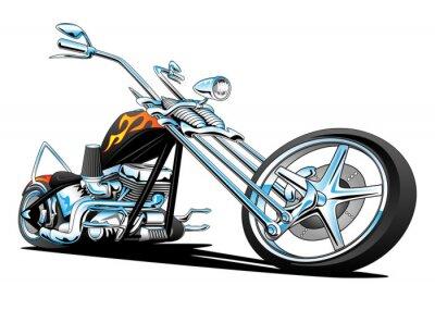 Наклейка Пользовательские Американский чоппер мотоцикл