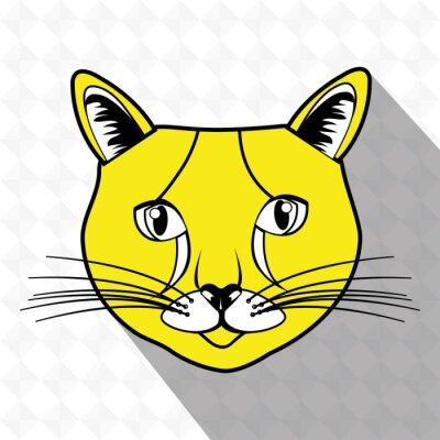 Наклейка милый дизайн кошки