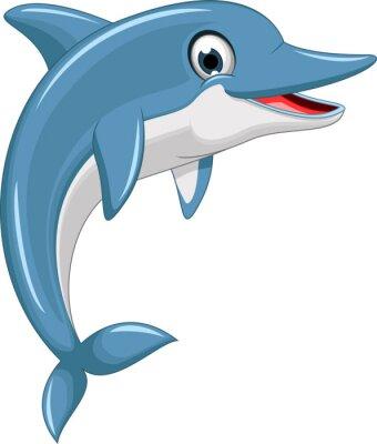 Наклейка cute dolphin cartoon jumping