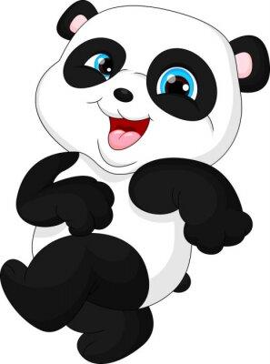 Наклейка Милый забавный ребенок панды