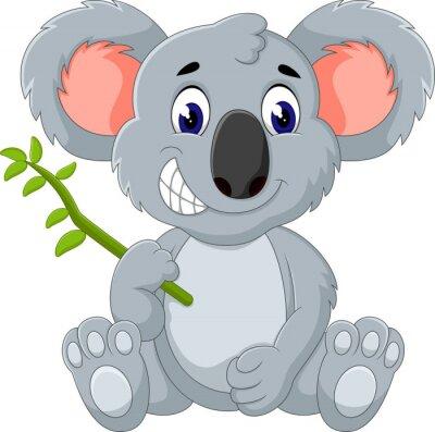 Наклейка Симпатичные коала мультфильм иллюстрации