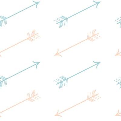 Наклейка мило пастельные розовый цвет синие стрелки бесшовные модели вектор фона иллюстрации