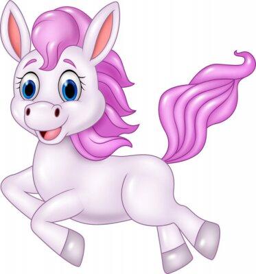 Наклейка Симпатичные пони лошадь работает на белом фоне