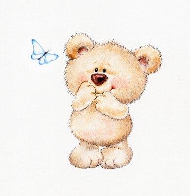 Наклейка Cute Teddy bear