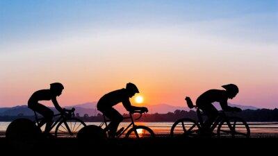 Наклейка Cycling on twilight time
