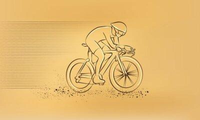 Наклейка Велоспорт гонки. Вектор ретро рисунок иллюстрации.