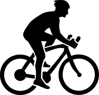 Наклейка Cycling Silhouette