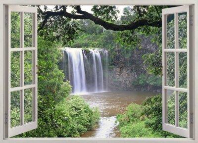 Наклейка Dangar водопад просмотра в открытое окно