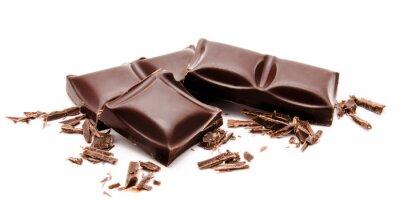 Наклейка Тёмные полосы шоколадные суммируется с крошками, изолированных на белом