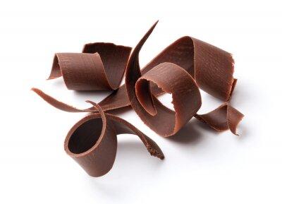 Наклейка темный шоколад завитки