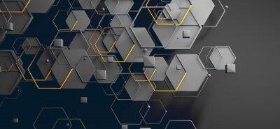 Наклейка Datos en la nube y red.Concepto de ciencia y tecnología.Malla y formas geométricas