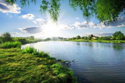 Наклейка День на реке