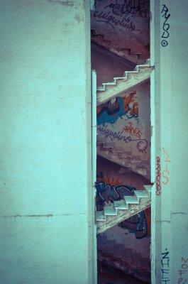 Наклейка сгнившие лестницы