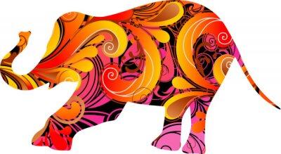 Наклейка Декоративные слон