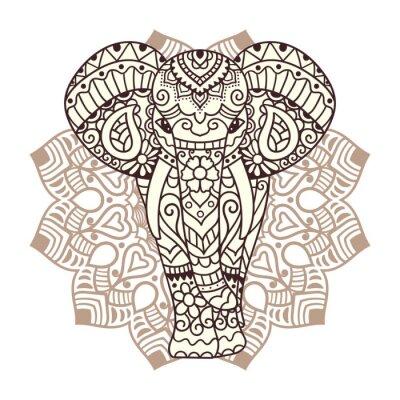 Наклейка Декоративные иллюстрации слон