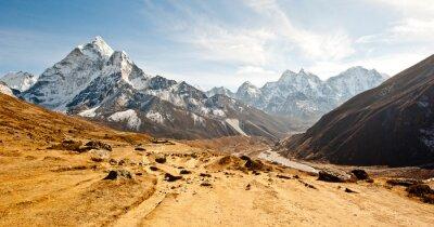 Наклейка Глубокие долины в горах Гималаев