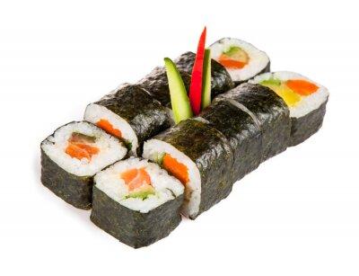 Наклейка Вкусные суши штук