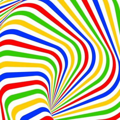 Наклейка Дизайн красочный вихрь движения иллюзия фон