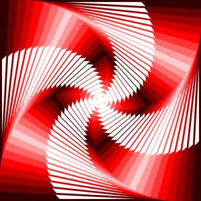 Наклейка Дизайн красочный вихрь движения иллюзия четырехугольник геометрической спине