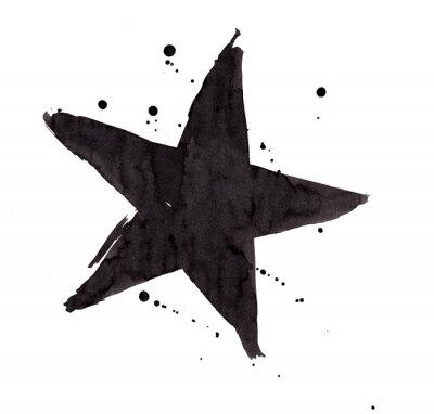 Наклейка Дизайн элементов. Урожай гранж Ретро звезды.