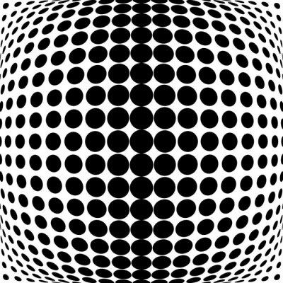 Наклейка Дизайн монохромный фон точки