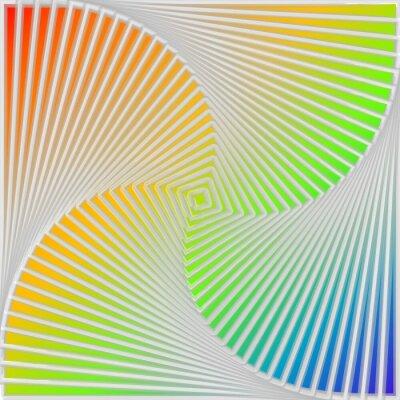 Наклейка Дизайн многоцветный водоворот движения иллюзия фон
