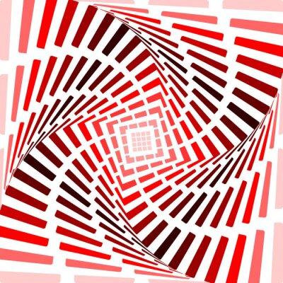 Наклейка Дизайн красный вертеть движение иллюзия фон. Аннотация полосы для