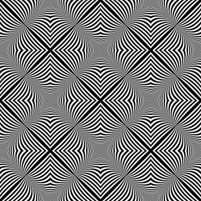 Наклейка Дизайн бесшовные монохромный фон иллюзия