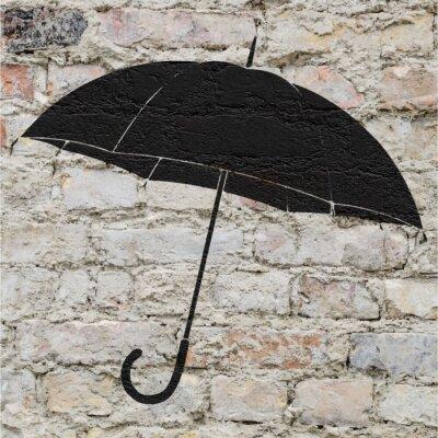 Наклейка Dessin d'ООН Parapluie сюр ООН мур