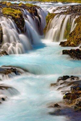 Наклейка Фрагмент водопада Bruarfoss в Исландии
