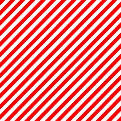 Наклейка Диагональная полоса красно-белый узор вектор
