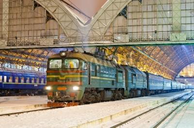 Наклейка Дизель пассажирский поезд во Львове