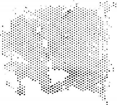 Наклейка Рассеиваемая ВЫРОЖДАЮЩЕГОСЯ текстуры полутонов узор. Векторные текстуры гранж наложения.