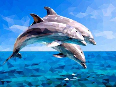 Наклейка дельфин