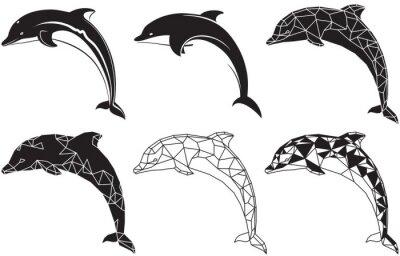 Наклейка дельфины