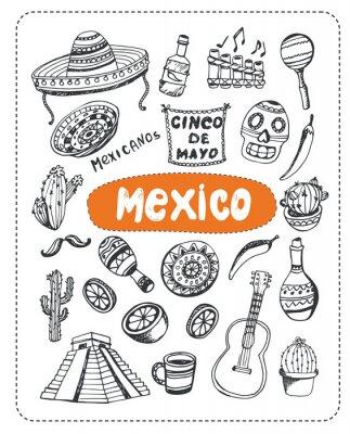 Наклейка Doodle о Мексике.