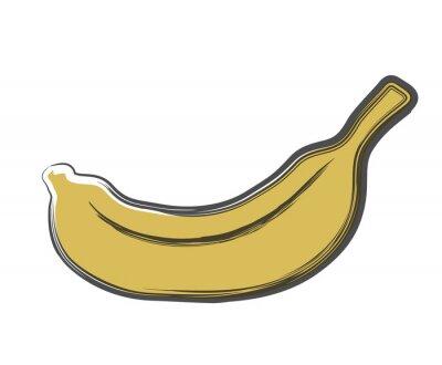 Наклейка каракули банан