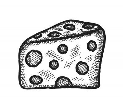 Наклейка болван сыр